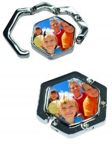 Bag hook with own hearts photo from € 14.95 | justsign.nl
